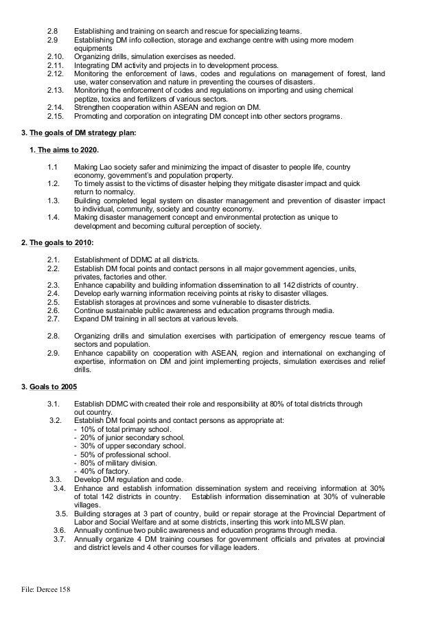 Strategic plan on disaster risk management in lao pdr Slide 3