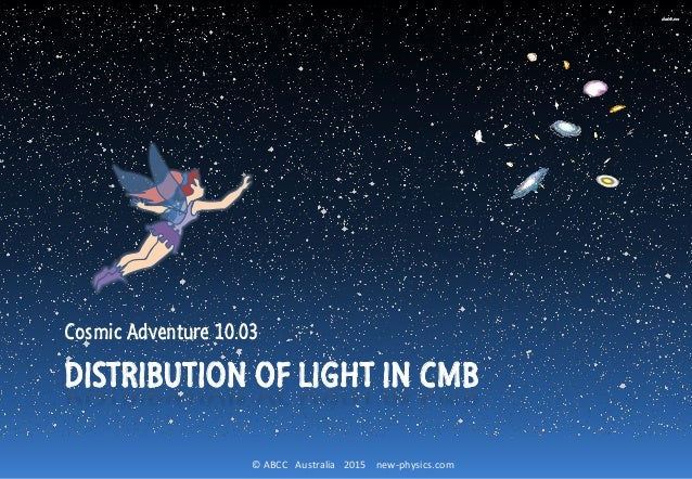© ABCC Australia 2015 new-physics.com DISTRIBUTION OF LIGHT IN CMB Cosmic Adventure 10.03