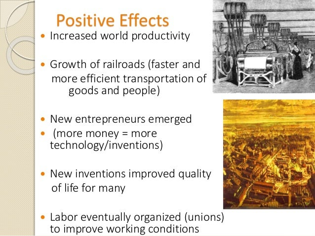 The effects of the industrial revolution on the world