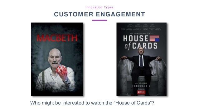 """Who might be interested to watch the """"House of Cards""""? Innovation Types CUSTOMER ENGAGEMENT"""