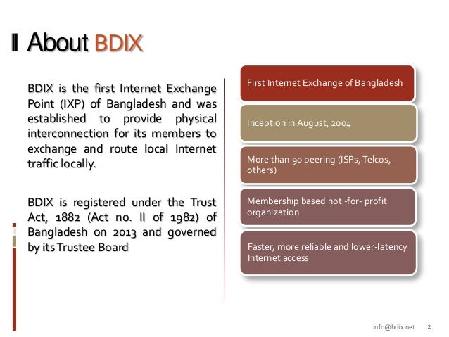 Peering Forum - BDIX Update Slide 2