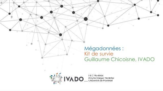 Mégadonnées : Kit de survie Guillaume Chicoisne, IVADO