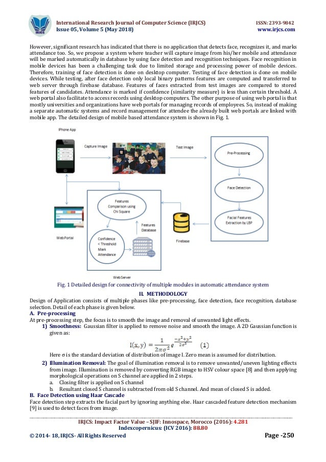 AN IMAGE BASED ATTENDANCE SYSTEM FOR MOBILE PHONES