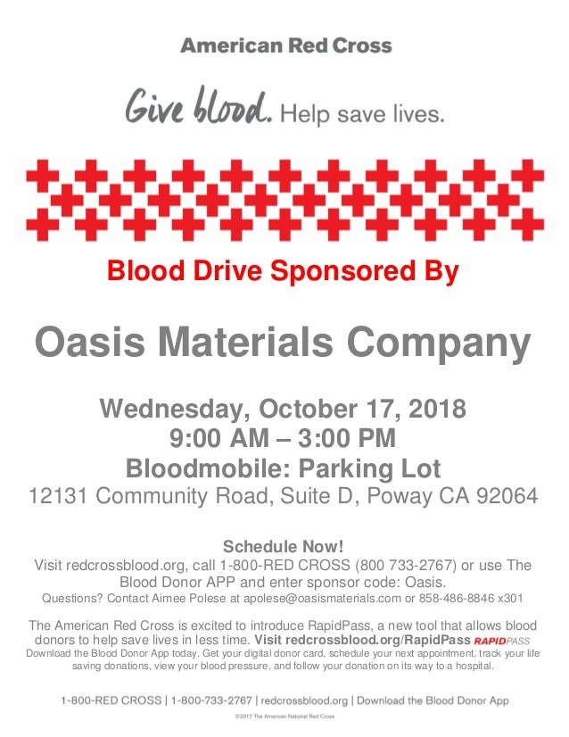 Oasis Materials has partnered with the American Red Cross