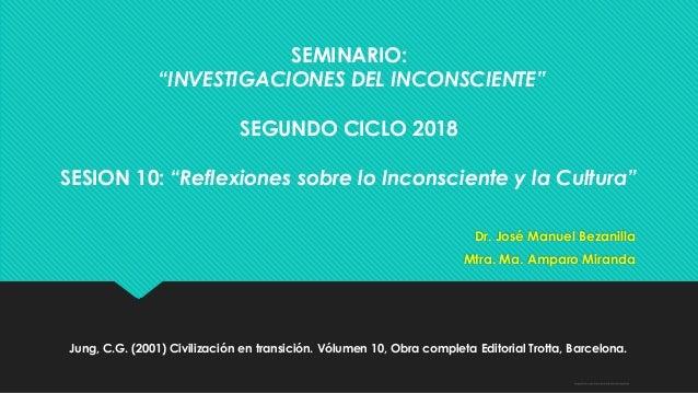 """Sage-Fox.com Free PowerPoint Templates SEMINARIO: """"INVESTIGACIONES DEL INCONSCIENTE"""" SEGUNDO CICLO 2018 SESION 10: """"Reflex..."""