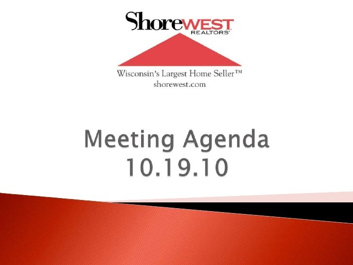 Meeting Agenda10.19.10<br />