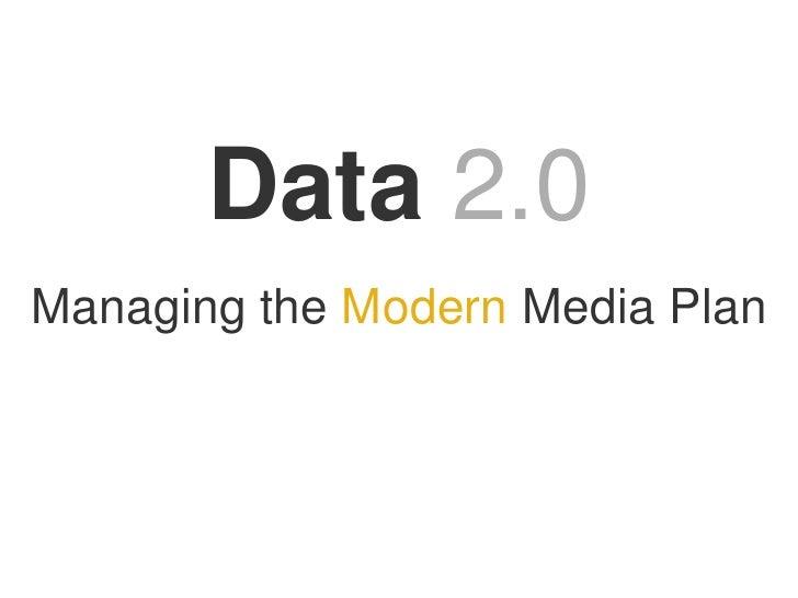 TrackSimple Board of Directors<br />Data2.0<br />Managing the Modern Media Plan<br />