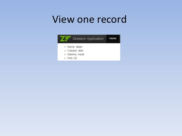 View one record