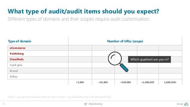 pa.ag@peakaceag31 What type of audit/audit items should you expect? Different types of domains and their scopes require au...