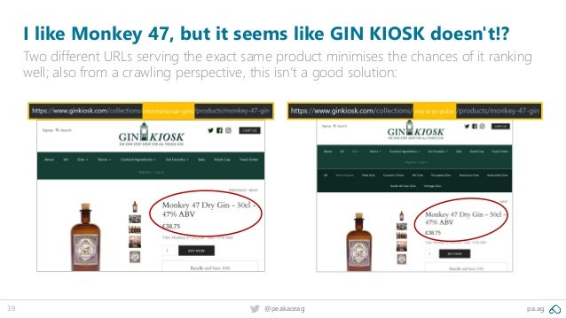 pa.ag@peakaceag39 I like Monkey 47, but it seems like GIN KIOSK doesn't!? Two different URLs serving the exact same produc...
