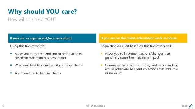 pa.ag@peakaceag6 Why should YOU care? How will this help YOU? If you are on the client-side and/or work in-house Requestin...