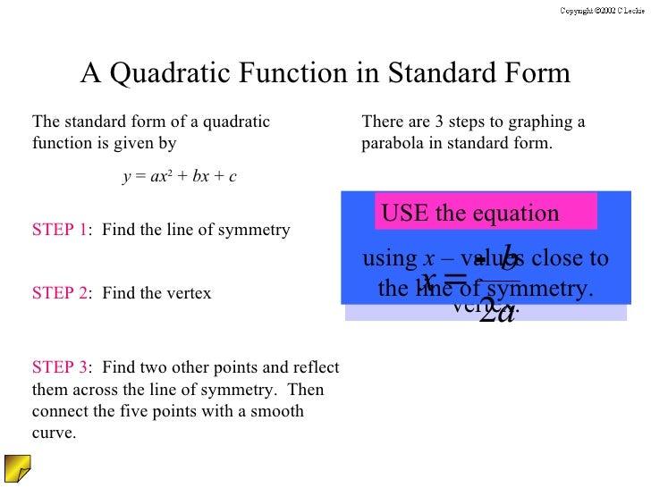 Graphing Quadradic