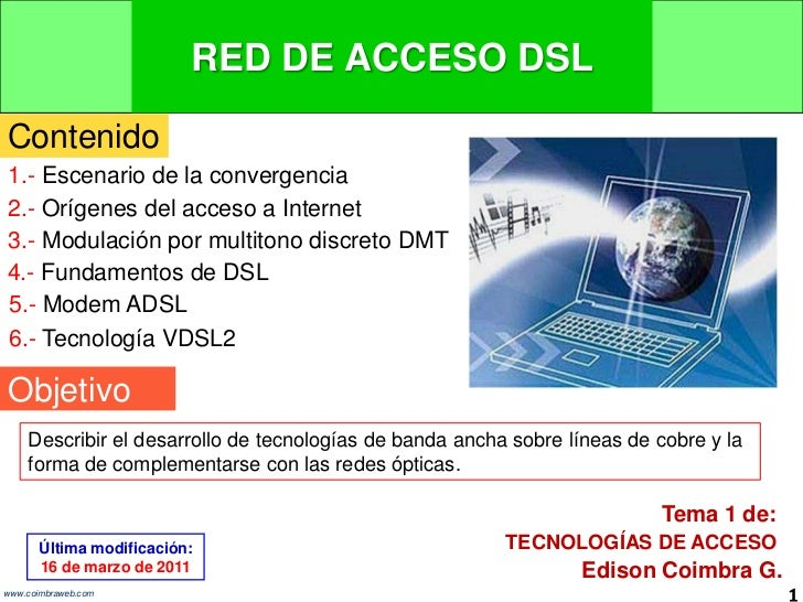 10.1 Red de acceso DSL