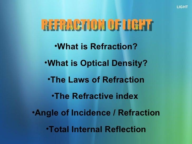 chapter 10 -  refraction of light (na) Slide 2