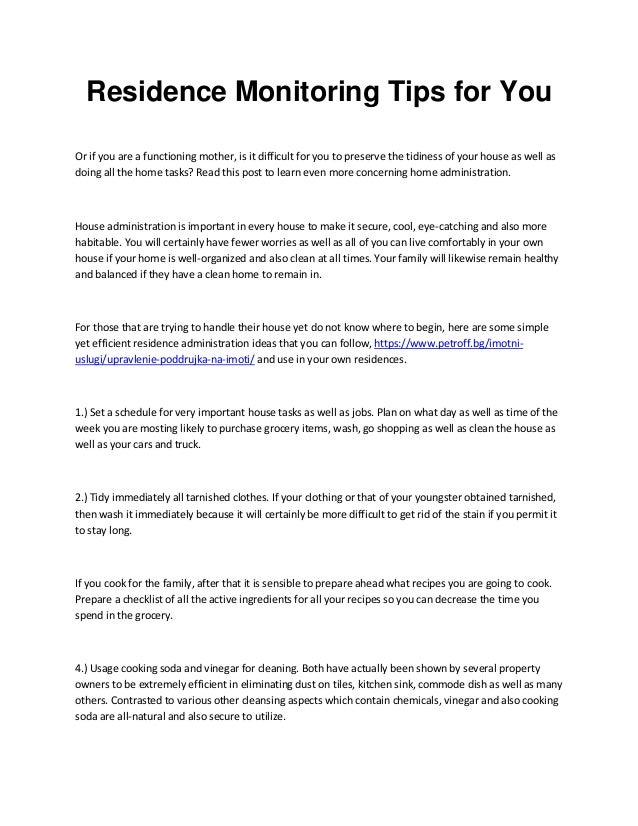 Residence Monitoring Tips for You Or if you are a functioning mother, is it difficult for you to preserve the tidiness of ...
