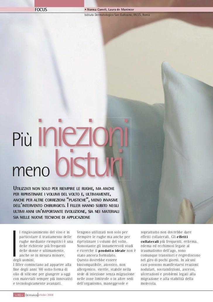 FOCUS                      • Norma Cameli, Laura de Manincor                                            Istituto Dermatolo...