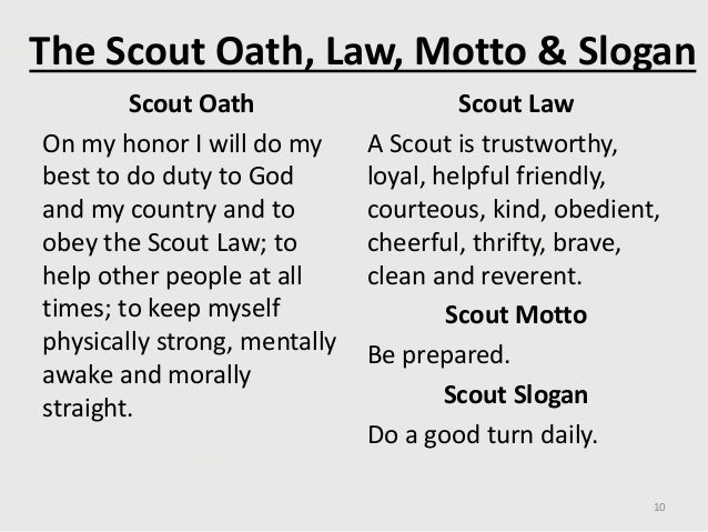 Divine image within boy scout oath and law printable