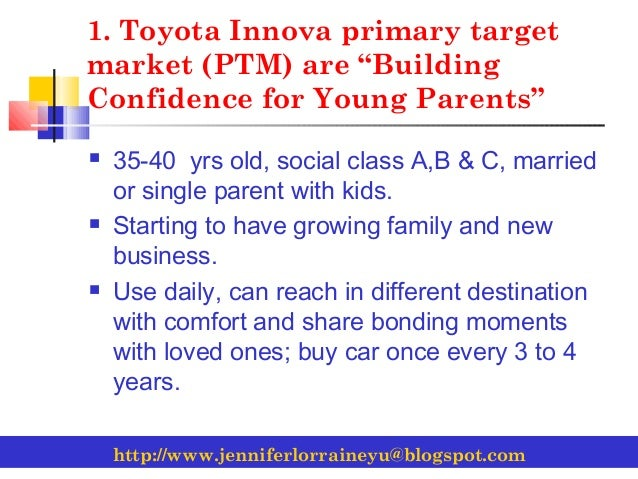 10 Step Marketing Plan For Toyota Innova Group E