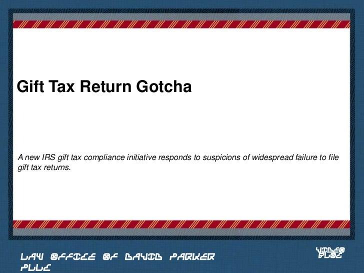 Gift Tax Return