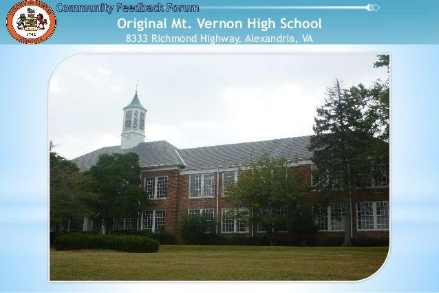 Original Mt. Vernon High School 8333 Richmond Highway, Alexandria, VA