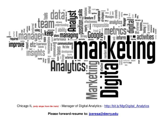 Chicago IL (only steps from the train) - Manager of Digital Analytics - http://bit.ly/MgrDigital_Analytics                ...