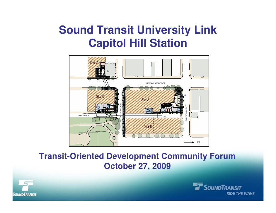 Sound Transit University Link             Capitol Hill Station                                            N        Transit...
