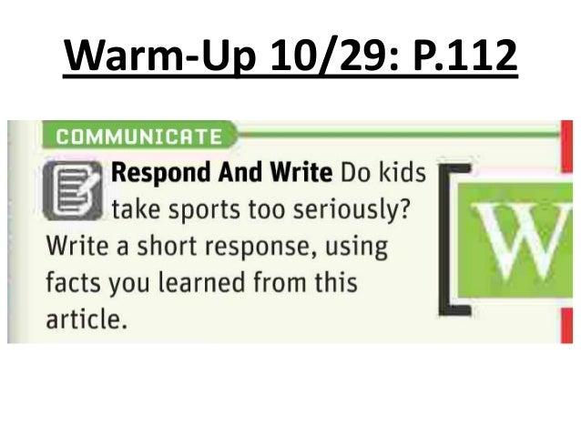Warm-Up 10/29: P.112