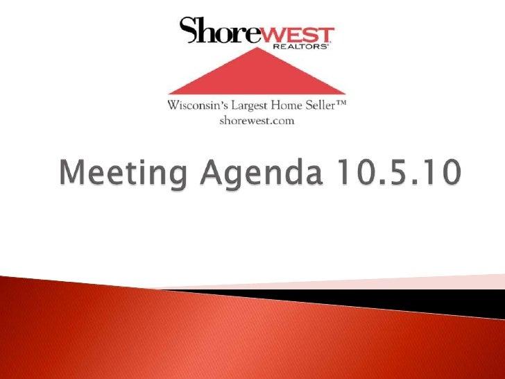 Meeting Agenda 10.5.10<br />