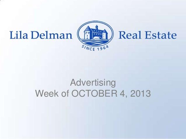Advertising Week of OCTOBER 4, 2013