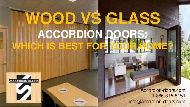 Wood Vs Glass Accordion Doors