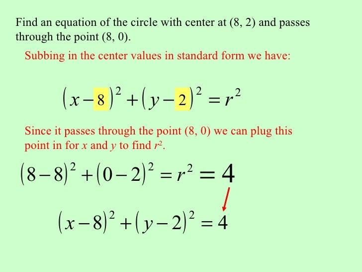 How To Find The Standard Form Of A Circle Dolapgnetband