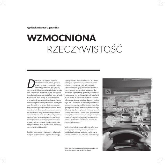 Agnieszka Rasmus-ZgorzelskaWzmocniona  rzeczywistośćD                                                                   ...