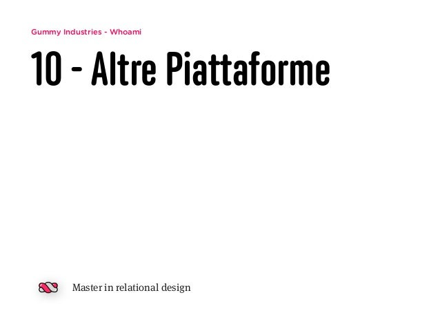 Gummy Industries - Whoami 10 -Altre Piattaforme Master in relational design