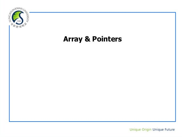 Array & Pointers