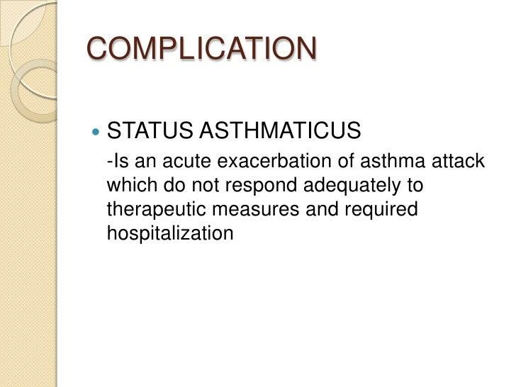 case study on status asthmaticus
