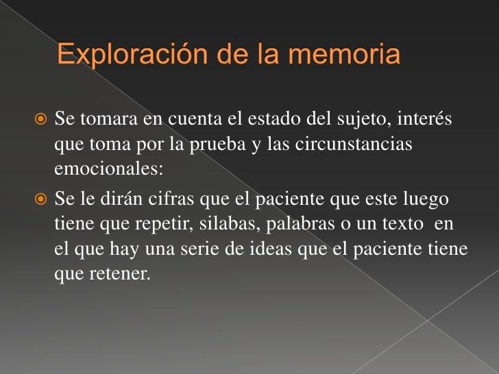 3.-ecnemesia; trastorno de la memoria en su fase de evocación los recuerdos del pasado en estos pacientes los tienen como ...