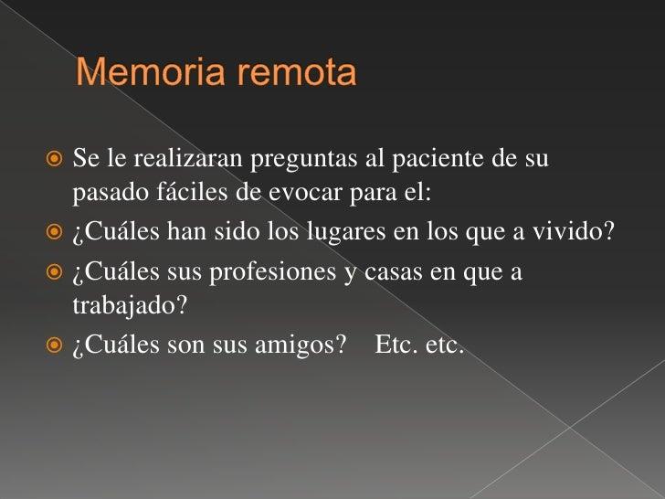 En los primeros casos la memoria que se explora es de tipo mecánico, <br />En el ultimo de tipo lógico.<br />El adulto nor...