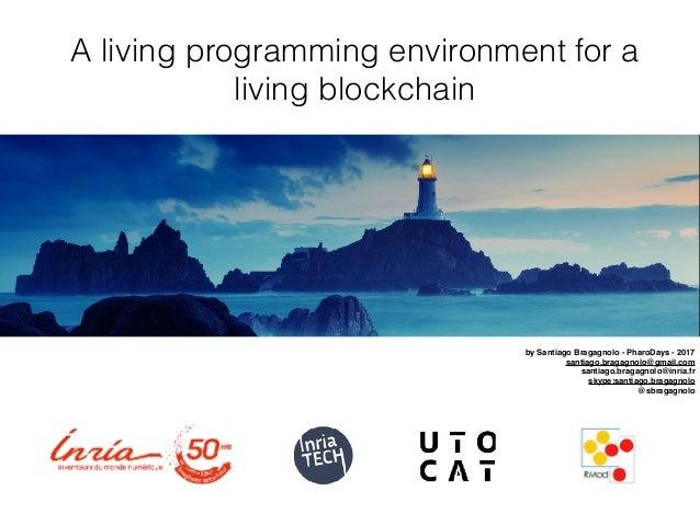 A living programming environment for a living blockchain by Santiago Bragagnolo - PharoDays - 2017 santiago.bragagnolo@gma...
