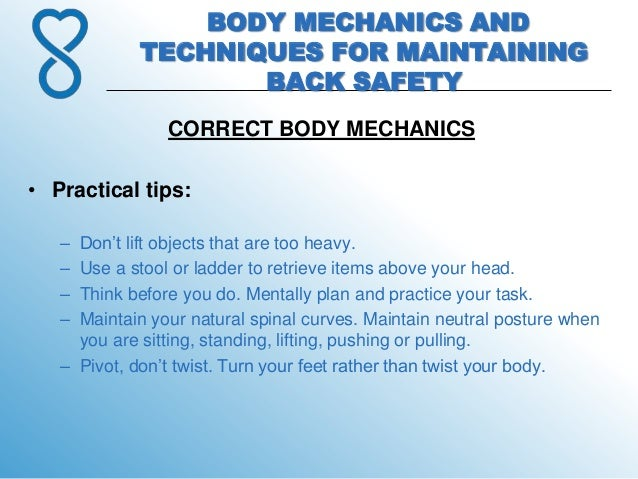 10 Body Mechanics And Techniques For Maintaining Back Safety