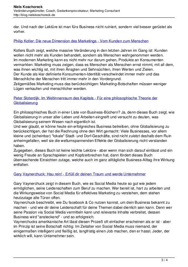 Niels Koschoreck  Veränderungskünstler, Coach, Gedankenprovokateur, Marketing Consultant  http://blog.nielskoschoreck.de  ...