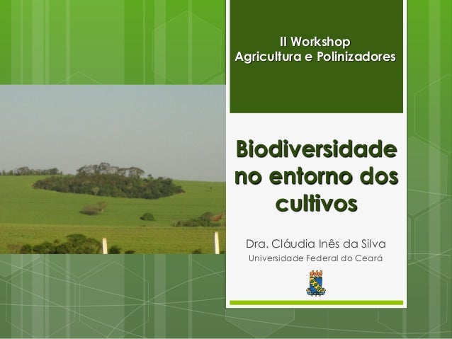 Biodiversidade no entorno dos cultivos  Dra. Cláudia Inês da Silva  Universidade Federal do Ceará  II Workshop Agricultura...