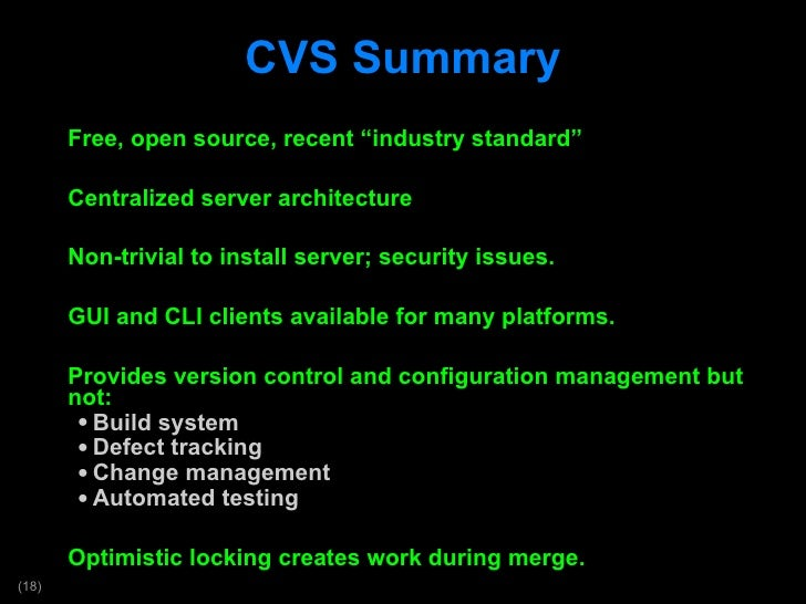 introduction to version control and configuration management