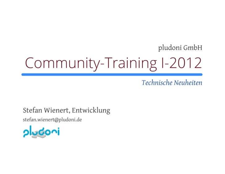 10. Community Training ITsax.de - technische Neuheiten 2012