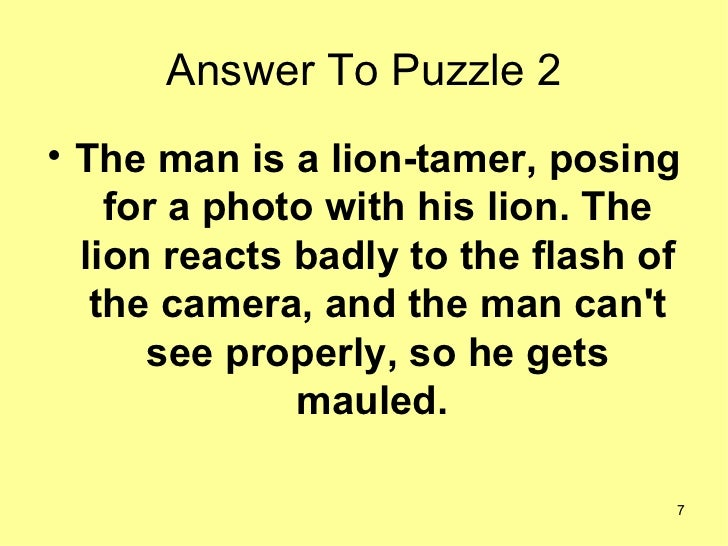 Answer To Puzzle 2 The