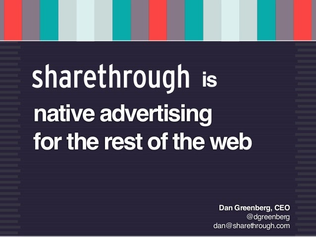 u   CUSTOMERS AS COFOUNDERS    @dgreenberg                              is    native advertising    for the rest of the we...