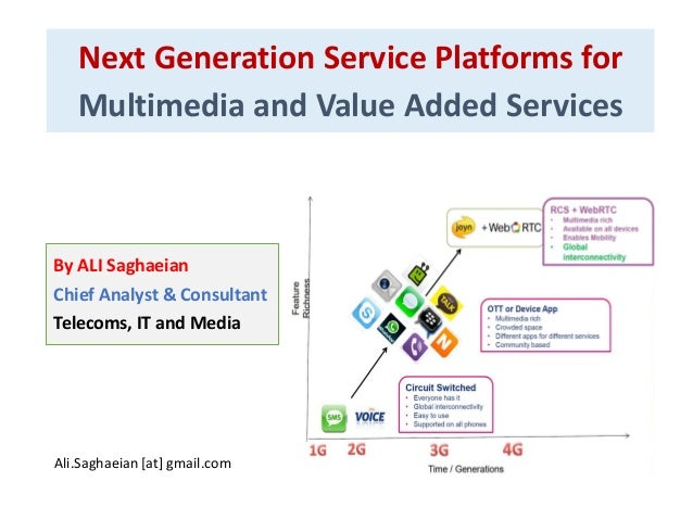 Next Generation Service Platforms for Multimedia and Value Added Services By ALI Saghaeian Chief Analyst & Consultant Tele...