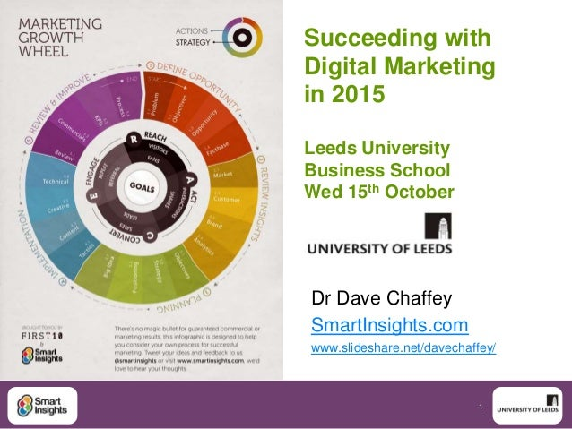 Succeeding with  Digital Marketing  in 2015  1  Leeds University  Business School  Wed 15th October  Dr Dave Chaffey  Smar...