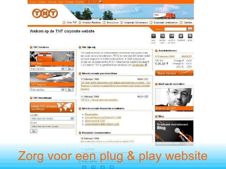 Zorg voor een plug & play website
