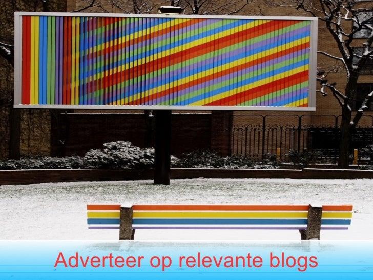 Adverteer op relevante blogs