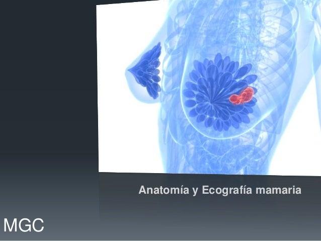 Anatomía y Ecografía mamariaMGC